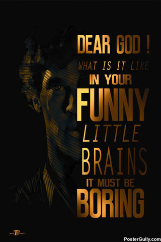 Brand New Designs, Sherlock Funny Little Brain Artwork | Artist: Pankaj Bhambri, - PosterGully - 1