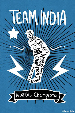 Brand New Designs, Team India World Champions, - PosterGully - 1