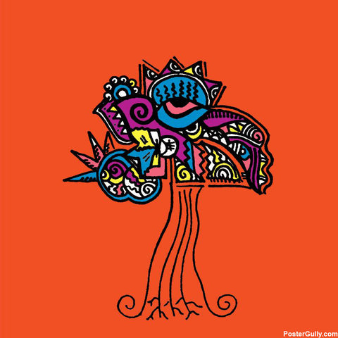 Brand New Designs, Tree Orange Artwork | Artist: Meghnanimous, - PosterGully