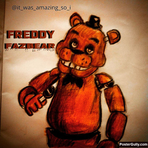 Square Art Prints, Freddy Fazbear Artwork | Artist: Salman Jamadar, - PosterGully
