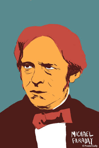 Wall Art, Michael Faraday Science Portrait, - PosterGully - 1
