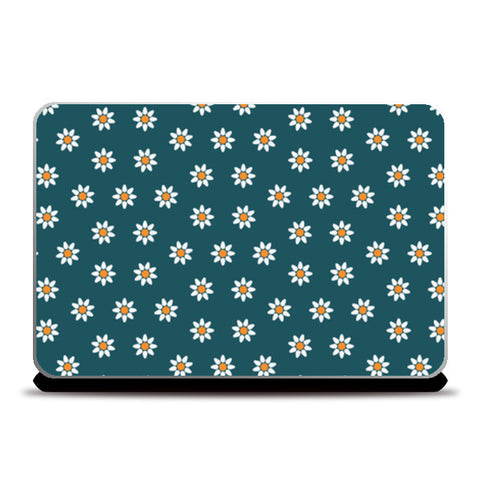 Blue and Yellow Floral Laptop Skins | Artist : Amantrika Saraogi