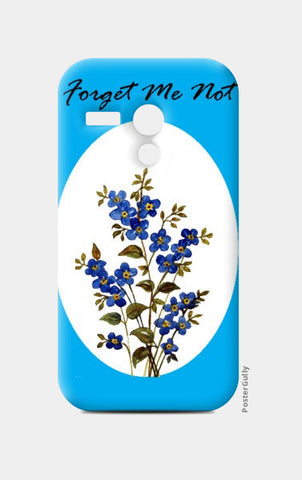 Moto G Cases, Blue Forget Me Not Floral Moto G Cases | Artist : Seema Hooda, - PosterGully