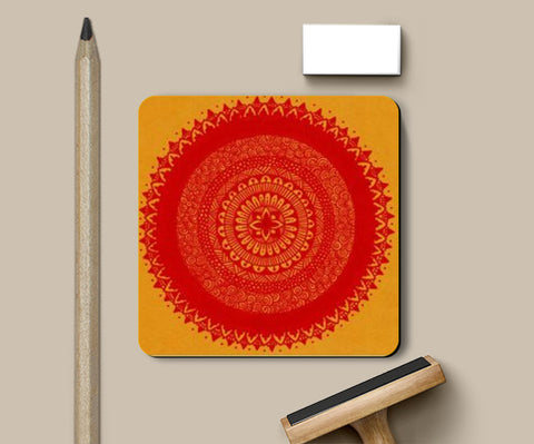 PosterGully Coasters, mandala power Coasters | Artist : The Doodler dentist, - PosterGully