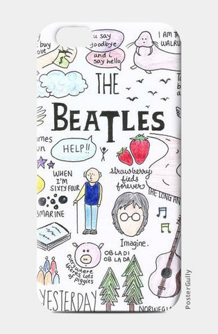 Beatles doodle color phone case iPhone 6/6S Cases | Artist : Anjali Nilakantan