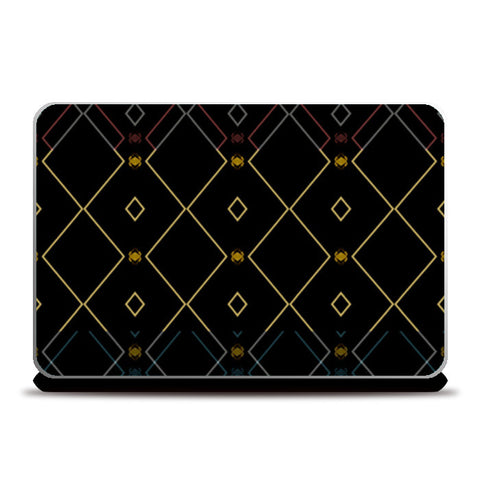 Pattern design in black Laptop Skins | Artist : Amar Singha