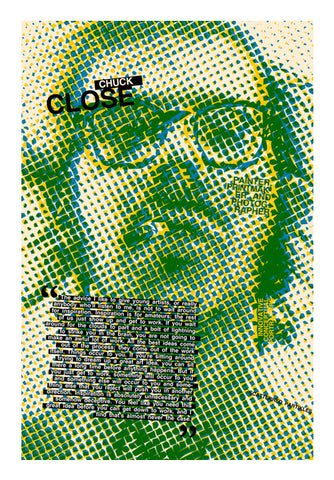 Chuck Close Wall Art | Artist : Scatterred Partikles