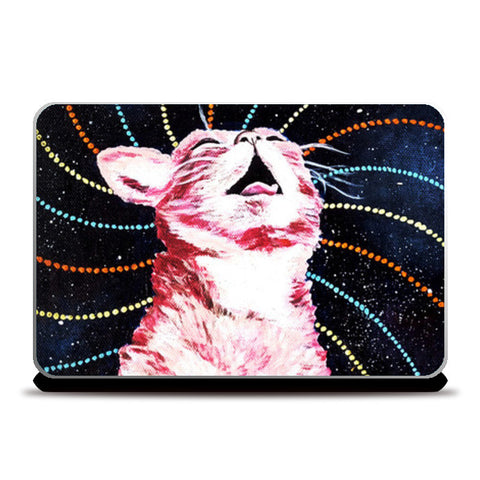 Laptop Skins, Cosmic Cat on Acid  Laptop Skins | Artist : Aashna Aasif, - PosterGully