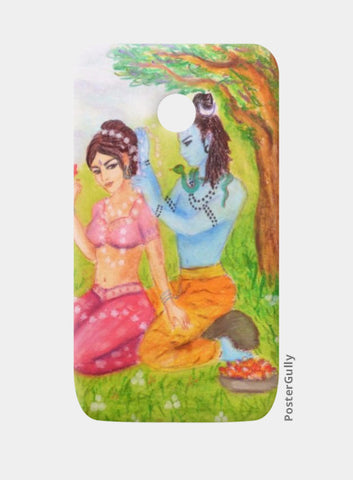 Moto E Cases, Shiva and Parvati Moto E Case | artist: Lalitavv, - PosterGully