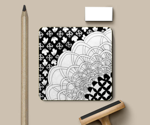 Loops and Squares Coasters | Artist : Purvi Gadewar