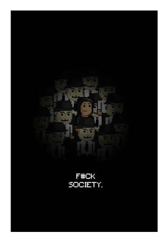 PosterGully Specials, Fuck Society Mr Robot Themed 8bit Design Wall Art | Artist : Divyansh Deora, - PosterGully