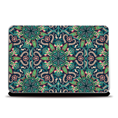 Indian Classic Art Flower Pattern Laptop Skins | Artist : Creative DJ