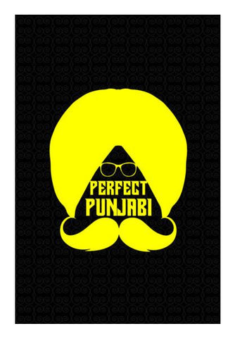 PosterGully Specials, Punjabi turban with moustache Wall Art | Artist : Designerchennai, - PosterGully