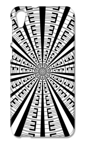 Abstract Geometric Black And White Radial Line Art Design  HTC Desire 826 Cases | Artist : Seema Hooda