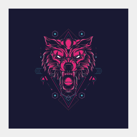 The Wolf Square Art Prints | Artist : Inderpreet Singh