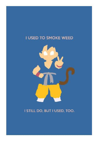 PosterGully Specials, Goku Stoner Dragon Ball Wall Art | Rishabh Bhargava | PosterGully Specials, - PosterGully