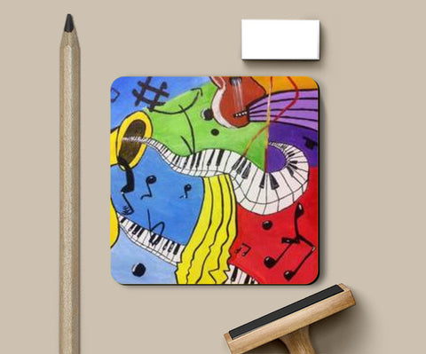 Coasters, Musical Instruments Coaster | Artist: Meghna Garg, - PosterGully