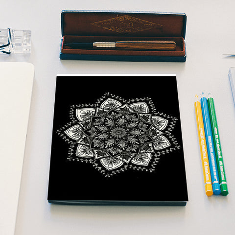 Black and white mandala Notebook | Artist : Gursimran Kaur