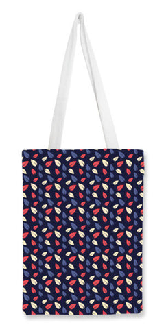 Seamless leaves multicolor vector pattern Tote Bags | Artist : Designerchennai