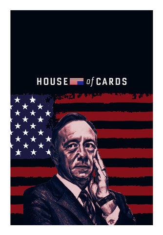 Frank Underwood- House of Cards Wall Art | Artist : Aninya Gangal