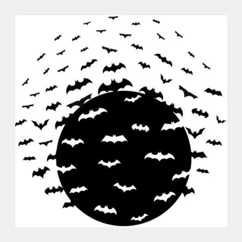 Deadly Bats Square Art Prints | Artist : Tiny Dots