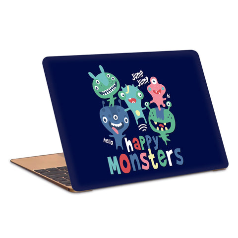 Happy Crazy Monsters Artwork Laptop Skin