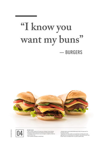 Junk Seduction_BURGERS Wall Art | Artist : Scatterred Partikles