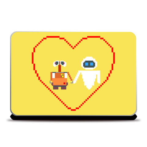 Laptop Skins, Wall-e and Eve Pixel Art Laptop Skins | Artist : marika, - PosterGully