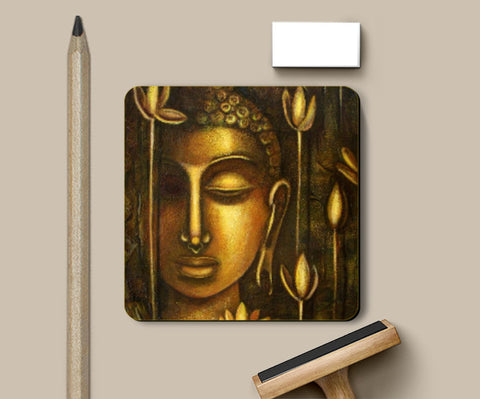 Coasters, golden buddha Coaster | Raji Chacko, - PosterGully