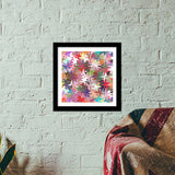 Colorful Chaos Abstract Modern Art Pattern  Premium Square Italian Wooden Frames | Artist : Seema Hooda