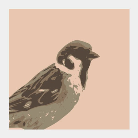 Square Art Prints, Abstract Sparrow Default Square Art | Artist : Keshava Shukla, - PosterGully