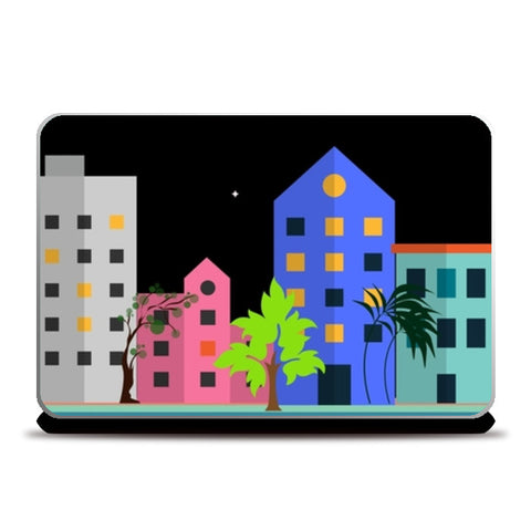 My city in the night Laptop Skins | Artist : Pallavi Rawal