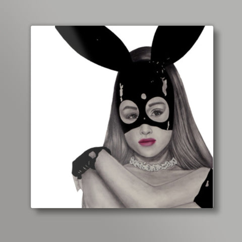 Dangerous Woman Square Metal Prints | Artist : Anniez Artwork