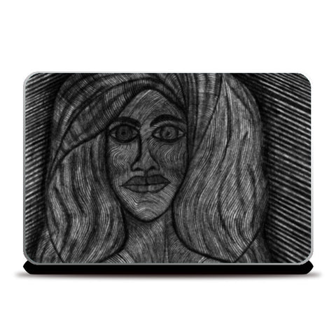 Laptop Skins, Orange Babe Laptop Skins | Artist : Luke's Art Voyage, - PosterGully