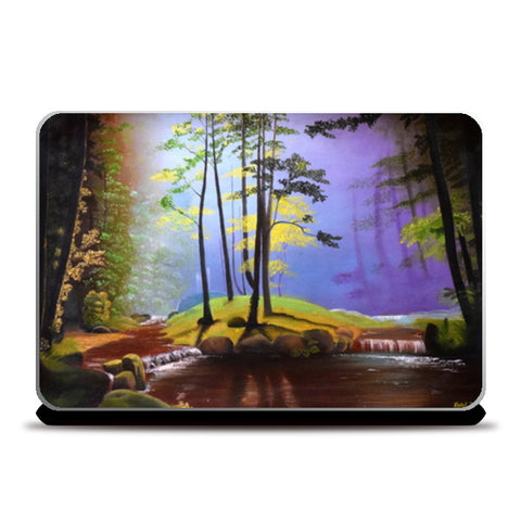 Forest Oil Painting Laptop Skins | Artist : Rahul Tanwar