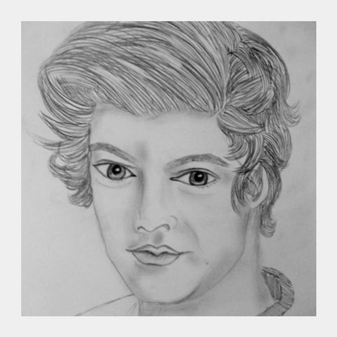 Harry Styles Sketch Square Art Prints | Artist : Pallavi Rawal