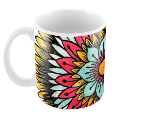 Watercolour Mandala Coffee Mugs | Artist : Swathi Kirthyvasan