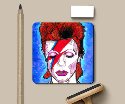 David Bowie - From Starman to Stardust Coasters | Artist : Pop Goes The Easel