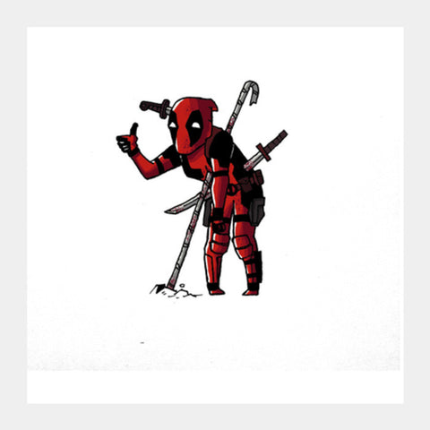 Square Art Prints, Deadpool Square Art Prints | Artist : abhilash kumar, - PosterGully