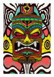 Tiki Monster Wall Art | Artist : Pulkit Taneja