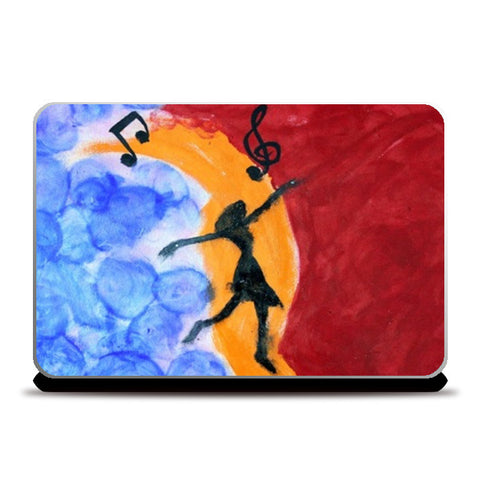 Free Soul | Finger Painting | Abstract | Laptop Skins | Artist : Nandini Rawat