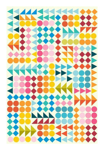Basic Shape Pattern  Art PosterGully Specials