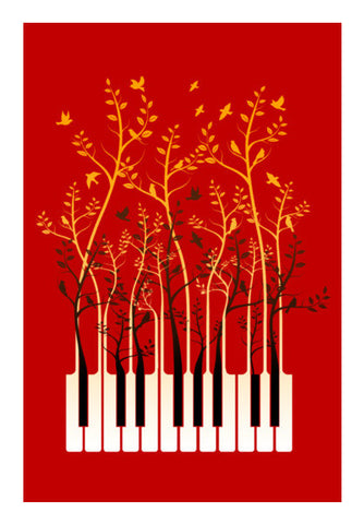 Piano Birds Wall Art | Artist : chetan adlak