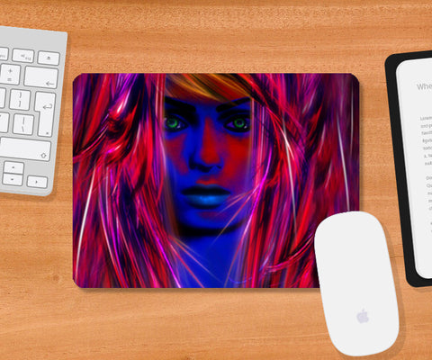 Miss psychedelic! Mousepad | Artist : Jessica Maria