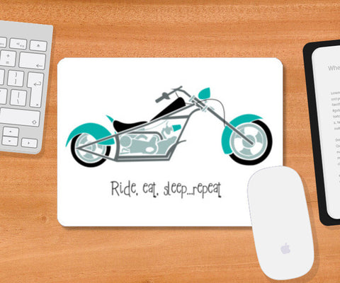Mousepad, Ride, eat, sleep ... repeat ! Mousepad | Artist : Vishakha Ruhela, - PosterGully