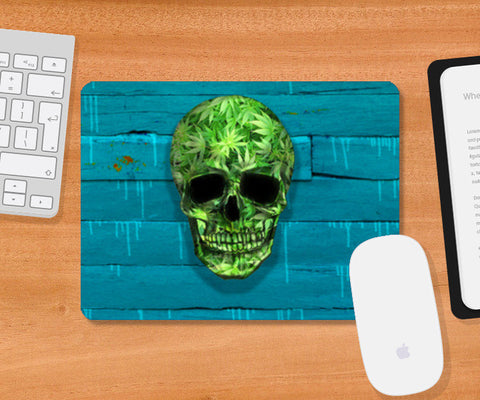 Mousepad, Weed Skull Mousepad | Artist : Dr. Green, - PosterGully