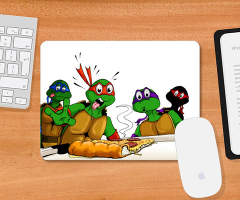 Mousepad, Ninja Turtles - Pizzaaa!!! Mousepad | Artist : Paul D' Rozario, - PosterGully