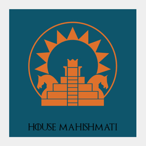 House Mahishmati Square Art Prints | Artist : BY Darakhsha Dandekar, Karan Mehta and Udit Shah