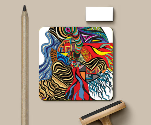 PosterGully Coasters, Psychedelic mania! Coasters | Artist : Jessica Maria, - PosterGully