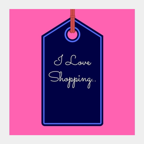 Love Shopping Square Art Prints | Artist : Pallavi Rawal
